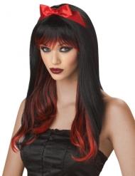 Paryk fortryllet sort og rød til kvinder