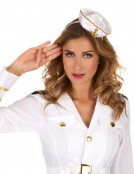 Hårbånd minihat sømand hvid til kvinder
