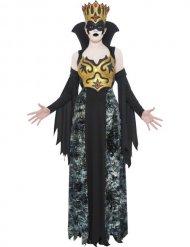 Dronning sort kostume kvinde
