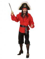 Kostume Bermudashorts pirat sort til mænd