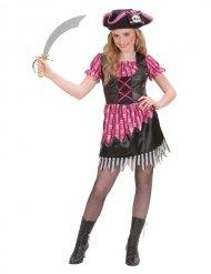 Piratkostume pige sort og lyserød