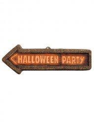 Halloween party skilt