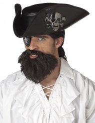 Brunt pirat skæg mand