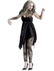 Sexet sort zombie kostume kvinde