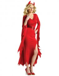 Elegant rød djævlekostume - kvinde