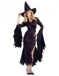 Kostume heks sort til kvinder til Halloween