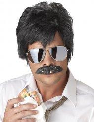 Detektiv paryk med skæg sort