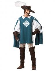 Kostume musketer blå til mænd