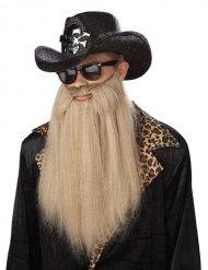 Langt rockmusiker skæg