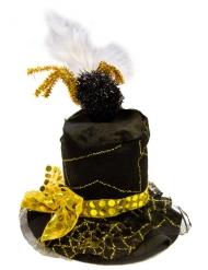 Spindelvæv hat sort og guld voksen
