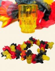 Blomsterkrans i tyske farver med shotglas