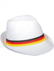 Fodboldhat Tyskland hvid med flagfarver til voksne