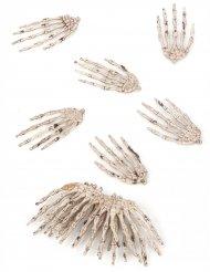 Skelet hænder 12 stk. Halloween