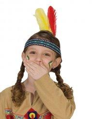 Pandebånd indianer med fjer til børn