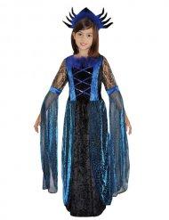 Kostume edderkoppedronning i sort og blå Halloween