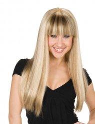Paryk blond med pandehår til kvinder