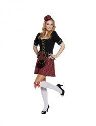 Kostume skotte til kvinder i rød og sort