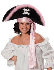 Hat pirat sort og lyserød til kvinder