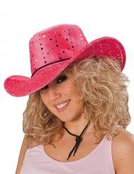 Hat cowgirl lyserød