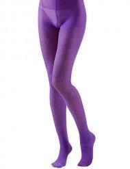 Strømpebukser violet med glimmer til voksne