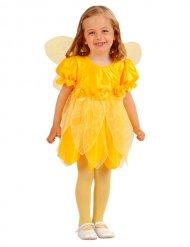 Kostume blomsterfe gul til piger