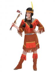 Kostume flerfarvet indianer til børn