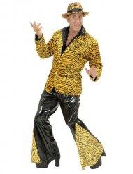 Bukser tigerstibede til discokostume til mænd