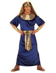 Kostume egyptisk farao blå og guld