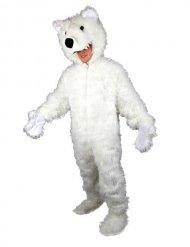 Hvidt bjørnekostume til voksne