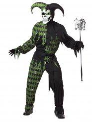 Kostume Harlekin diabolsk grøn Halloween til mænd
