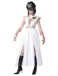Hvid beige zombie monster halloween kostume kvidne