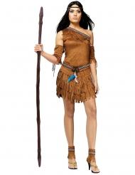 Kostume indianer grøn til kvinder