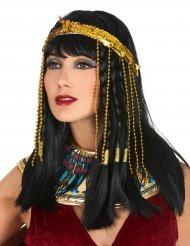 Pandebånd med pailletter gyldent egyptisk til kvinder