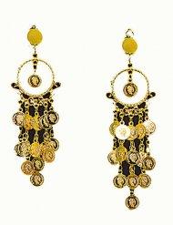 Orientalske øreringe med gyldne dele