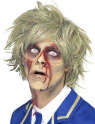 Paryk kort zombie til mænd blond Halloween