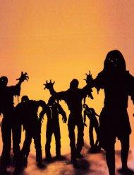 Zombie klistermærker dekoration til Halloween