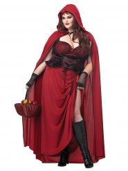 Kostume Lille Rødhætte goth til kvinder store størrelser