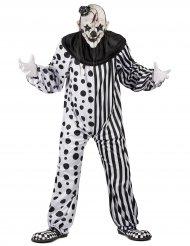 Kostume monster klovn sort og hvid til voksne