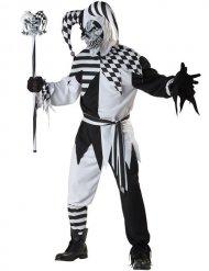 Kostume skræmmende Harlekin sort og hvid