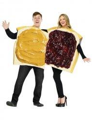 Parkostume peanut butter jelly sandwich -voksen