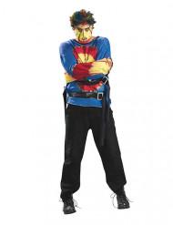 Psykopat kostume halloween flerfarvet mand