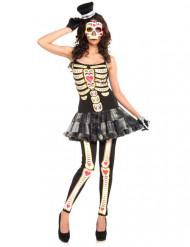 Dia de los muertos skelet kjole kostume kvinde