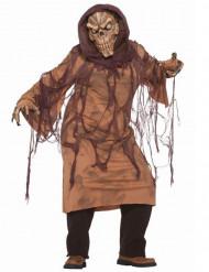 Brun skelet kostume vokse