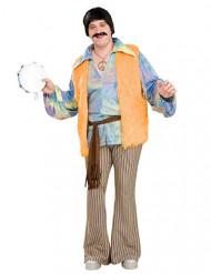 Kostume hippie mand stor størrelse