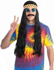 Sort hippieparyk med bånd