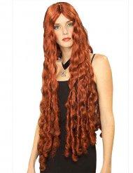 Lang rødhåret paryk til kvinder