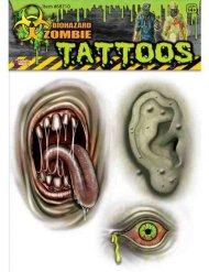 Zombie mutant tatovering Halloween