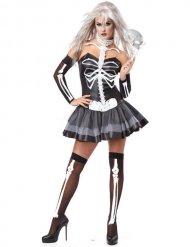 Kostume sexet skelet sort og hvid