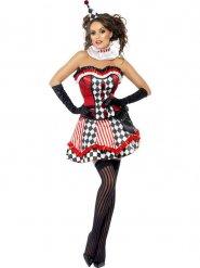 klovnekorset kostume kvinde