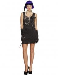 Kostume Charleston med sort sløjfe til kvinder